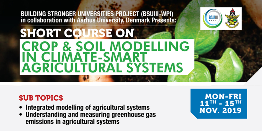 Short Course on Crop and Soil Modelling
