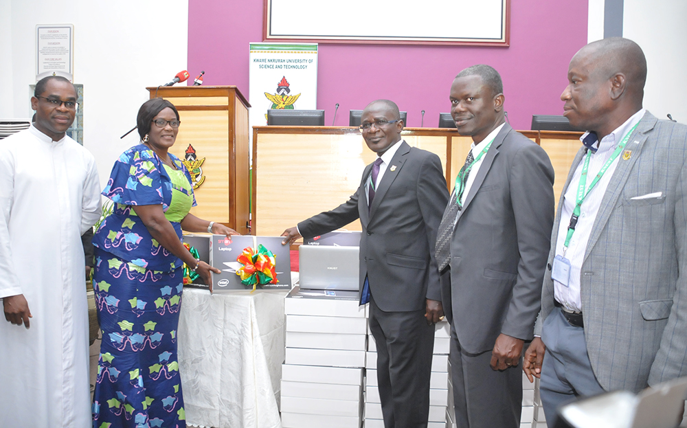 KNUST Donates 560 Brand New Laptop Computers